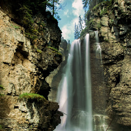 Johnson Canyon by Sue Connor - Landscapes Waterscapes ( johnson canyon, waterfalls, canada, albert, water,  )