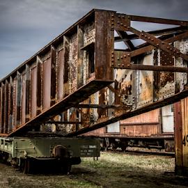 Rusty Railcar by Liam Douglas - Transportation Trains ( duluth, southeastern railway museum, railcar, rusty, ga )