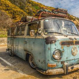 Summertime by Richard Simpson - Transportation Automobiles ( vw, camper, sand, campervan, sunshine, splitscreen, seaside, volkswagen )