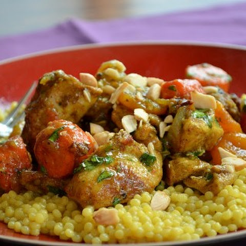 Shove-it-in-the-Oven Chicken Tagine With Apricots and Almonds