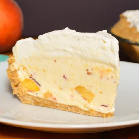 Frozen Peach Cheesecake
