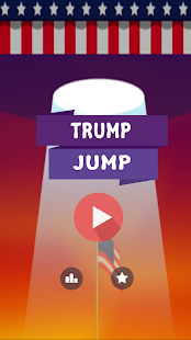Trump Face Jump : Troll Game - screenshot