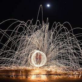 by Allama Nandi - Abstract Fire & Fireworks