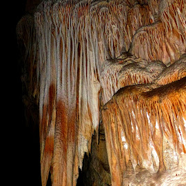 Carlsbad Formation by David Walters - Artistic Objects Signs ( natural formation, national park, carlsbad caverns, stalagtite. lumix fz 200, underground, cave )
