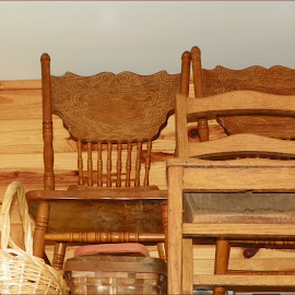 Chairs by Sandy Stevens Krassinger - Artistic Objects Furniture ( wooden things, chairs, baskets, artistic objects, furniture,  )