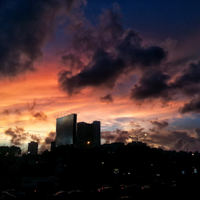Mumbai monsoon by Shikhar Sharma - Instagram & Mobile Android ( clouds, mumbai, monsoon, sunset, twilight, shikahrf8, dusk )