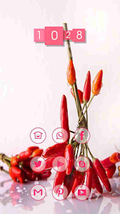 Small red pepper theme - screenshot