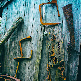 A Little Rusty by Mike Moody - Artistic Objects Other Objects ( tools, barn, wood texture, wheels, rust )