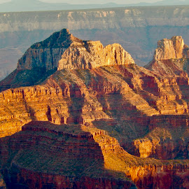 Sunset on the North Rim by Santford Overton - Landscapes Sunsets & Sunrises ( mountains, nature, sunset, landscapes, light, canyons, sun, shadows )