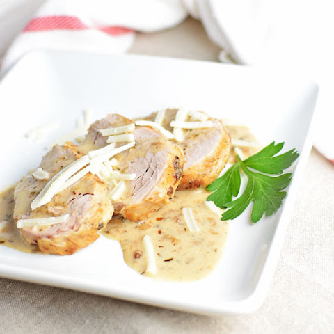 Tender Pork Loin and With Herb Sauce