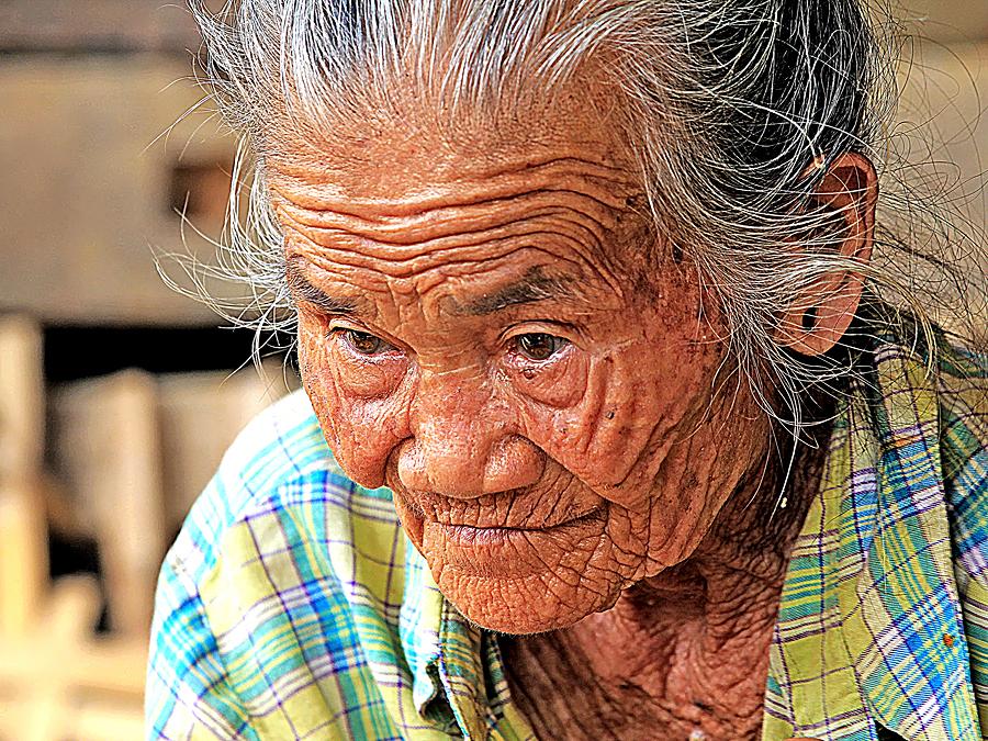 Old Lady by Benny Sugiarto Eko Wardojo - People Portraits of Women