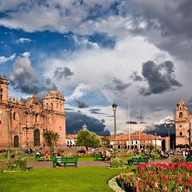 Cuzco view by Dmitry Samsonov - City,  Street & Park  Historic Districts ( peru, south america, cuzco, cathedral, cusco,  )
