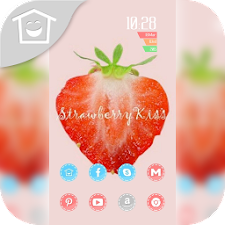 Lovely red strawberry theme