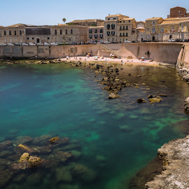 Siracusa, Sicily by Arif Sarıyıldız - City,  Street & Park  Vistas ( blu, sicilia, siracusa, sea, long exposure, historical city, italy, sicily )