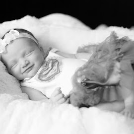 Baby dreams by Yulia Starostina - Babies & Children Babies ( cute baby, baby dreams, yuliastarostina, adorable smile, baby girl, yulia starostina photography )