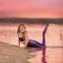by Stormy Anderson - Babies & Children Child Portraits ( idaho, girl, lake, tail, mermaid )
