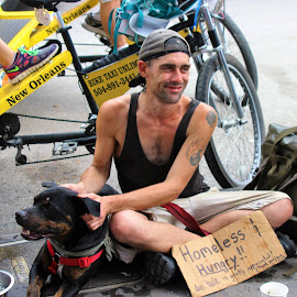 Homeless guy in New Orleans... by Christie Henderson - People Street & Candids