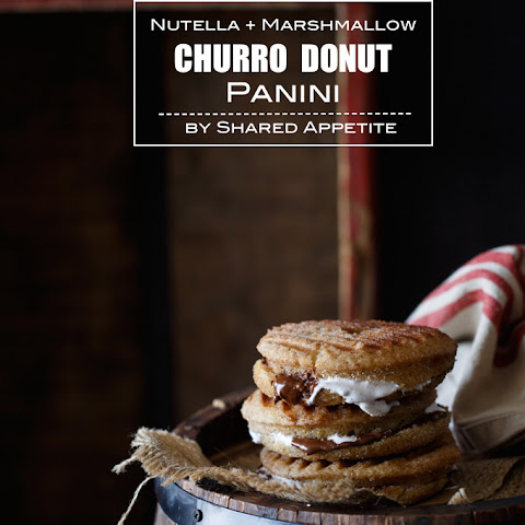 Nutella and Marshmallow Churro Donut Panini