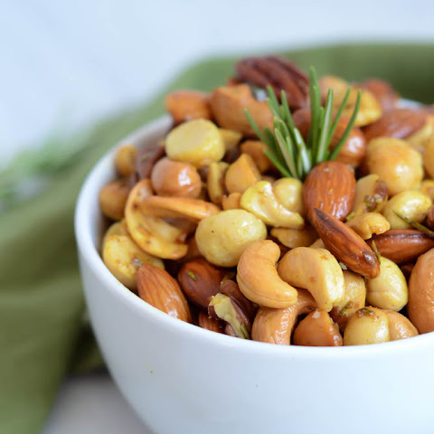 Curry-Rosemary Roasted Mixed Nuts