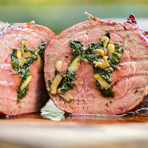 Spinach and Mushroom-Stuffed Beef Tenderloin