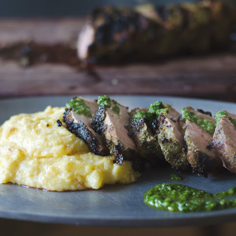 Pesto Grilled Pork Tenderloin