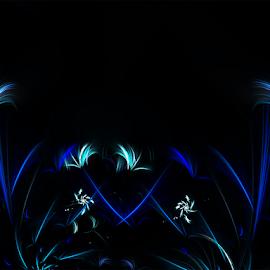 Plain and simple by Cassy 67 - Illustration Abstract & Patterns ( blue, digital art, flowers, fractal, digital, fractals, flower )