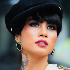 Jegeg Bulan by Amin Basyir Supatra - People Portraits of Women ( face, bali, fashion, girl, beautiful, beauty, portrait )