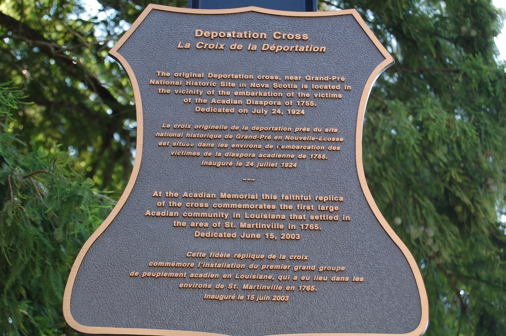 The original Deportation Cross, near Grand-Pré National Historic Site in Nova Scotia is located in the vicinity of the embarkation of the victims of the Acadian Diaspora of 1755. Dedicated on July ...