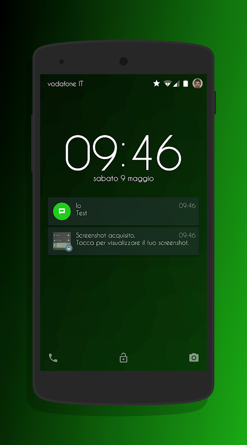 Transparent Green - CM13 Theme Screenshot 4