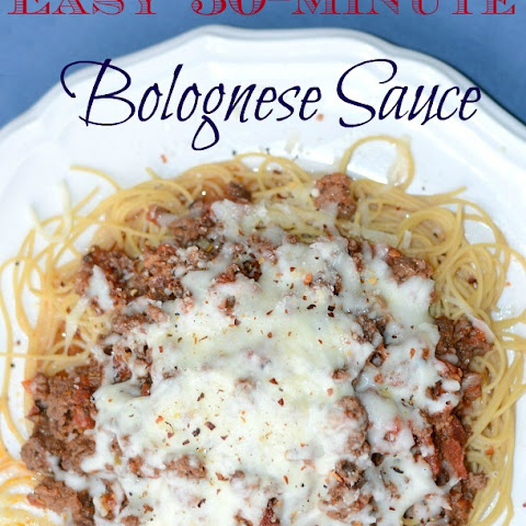 Hearty 30-Minute Bolognese Sauce