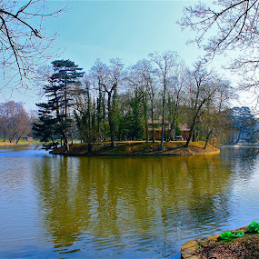 Robinson's island by Ingrid Dendievel - Landscapes Waterscapes ( park, belgium, lake, brussels, island )