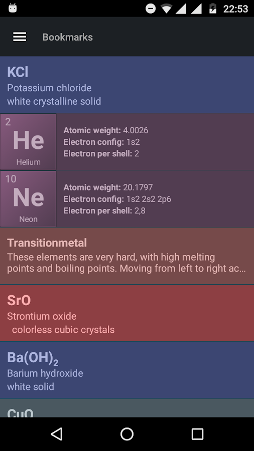 Periodic Table Screenshot 4