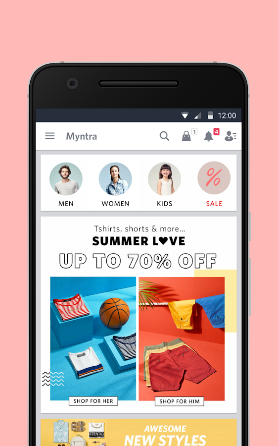 Myntra Online Shopping App Screenshot 0