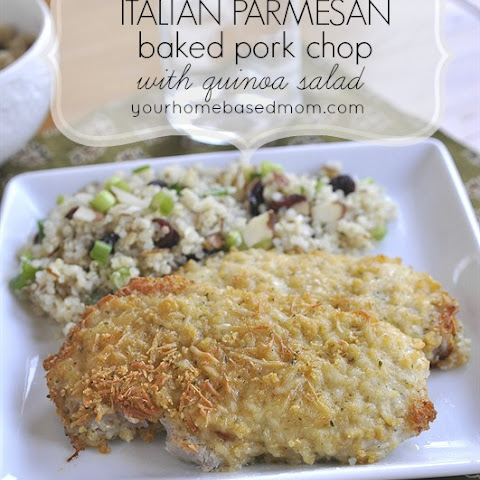 Italian Parmesan Baked Pork Chops with Quinoa Salad