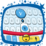 Cute Blue Cat Keyboard Theme Icon