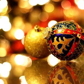 The Christmas Mood by Avishek Bhattacharya - Public Holidays Christmas ( bokeh, x-mas, decoration, christmas )
