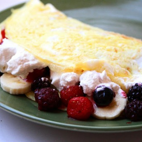 Decadent Fruit Omelet