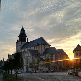 Chapelle by Evangeline Siaton - City,  Street & Park  Street Scenes