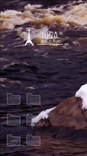 Waves rock snow theme - screenshot