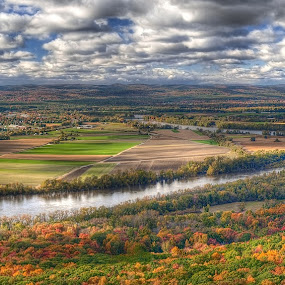 Autumn Valley View by Robert Burger - Landscapes Cloud Formations