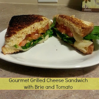 Gourmet Grilled Cheese Sandwich with Brie and Tomato