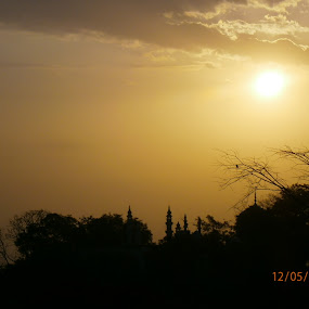 Sun on Mosque by Angelick Prince - Landscapes Sunsets & Sunrises ( sunset, mosque, purity, peace, aura )