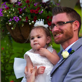 Father and Daughter on his day by Jim Johnston - Wedding Groom