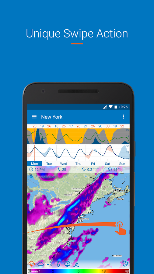 Flowx: long range weather forecast Screenshot 0