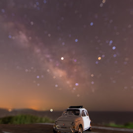 Gazing the Milky Way by Grigoris Koulouriotis - Artistic Objects Toys ( car, night photography, toy, stars, bokeh, nightscape, milky way, fiat500,  )