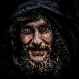 Charlie by Eddie Leach - People Portraits of Men ( dark, beard, men, man, portrait )
