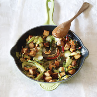 Baby Bok Choy and Tofu in Marmalade Sauce