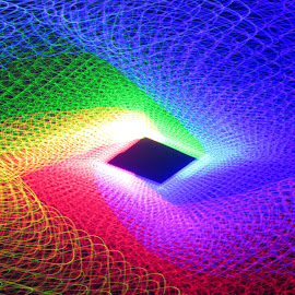 The arena by Jim Barton - Abstract Patterns ( laser light, colorful, light design, laser design, laser, laser art, laser light show, sciene, the arena, light )