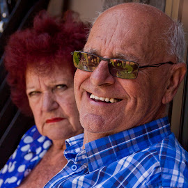 smiles and frowns by Wendy Berning - People Couples ( #couple, #happy, #frown, #smile, #sad )