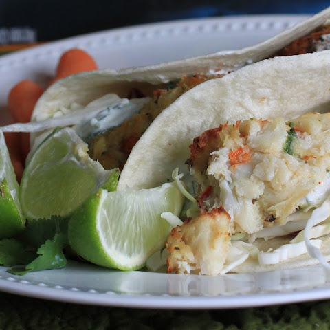 Crab Cake Tacos With Creamy Cilantro Lime Sauce